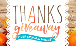 Win Over $15,000 in Prizes